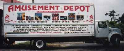 Amusement and Party Rental Truck Photo